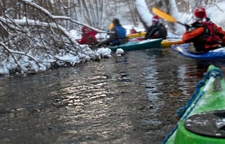 Mikołajkowy spływ rzeką Wierzyca